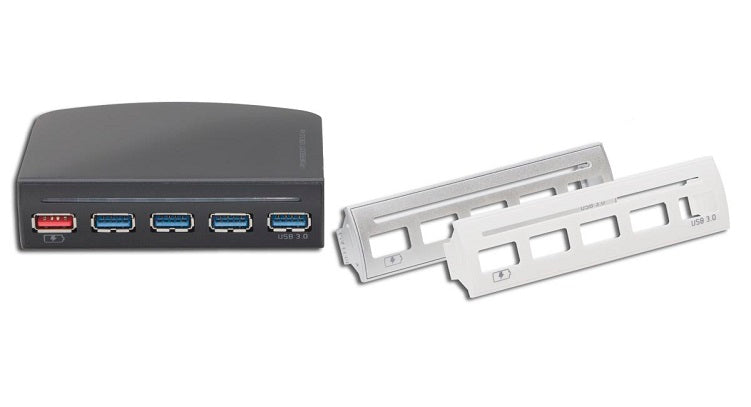 Syba 3.5in Drive Bay 4 Port USB 3.0 Hub with One Fast Charging Port - SD-HUB20092