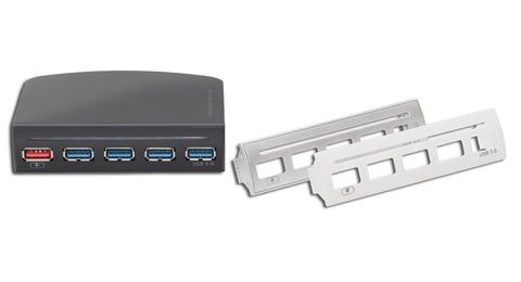 Image of Syba 3.5in Drive Bay 4 Port USB 3.0 Hub with One Fast Charging Port - SD-HUB20092
