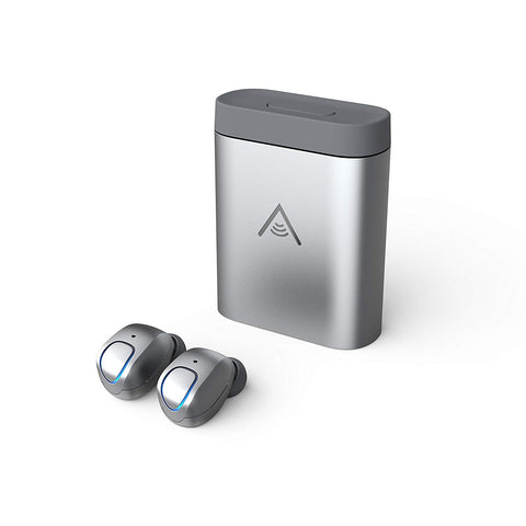 Alpha Audiotronics Skybuds - Truly Wireless Earbuds w/Digital Microphone, Adaptive Awareness & Mobile App (Nimbus)