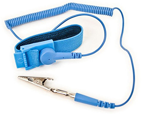 Image of Adjustable ESD Anti-Static Computer Ground Strap - Blue Color