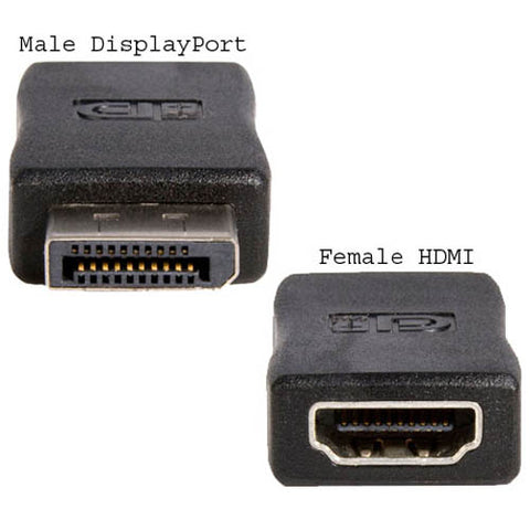 Image of Startech DP2HDMIADAP DisplayPort to HDMI Video Adapter