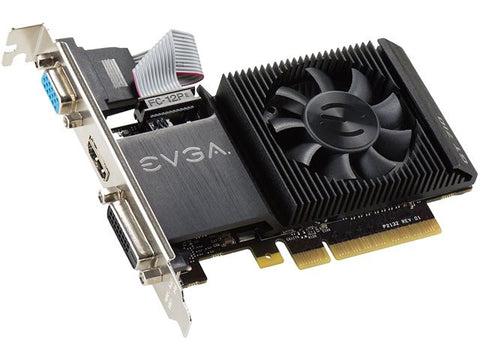 Image of EVGA 01G-P3-2711-KR GeForce GT710 1GB DDR3 PCIE Low Profile Video Card