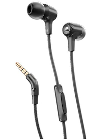 JBL E15 In-Ear Headphones with One-Button Remote and Mic (Black)