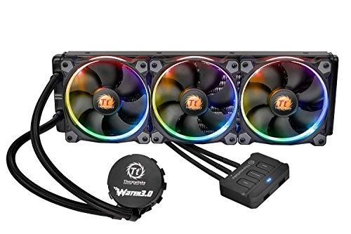 Thermaltake Water 3.0 Triple Riing RGB 360 AIO Liquid CPU Cooler with 3 x 120mm Powerful High Static Pressure Fan CL-W108-PL12SW-A