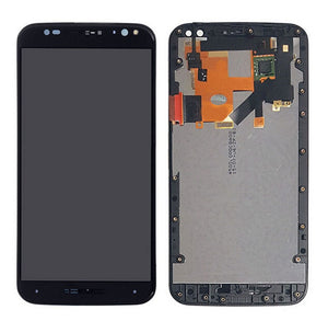 LCD Front Assembly with Frame for Motorola X Pure - Black