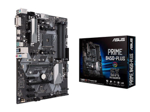 ASUS PRIME B450-PLUS AM4 AMD B450 SATA 6Gb/s USB 3.1 HDMI ATX AMD Motherboard