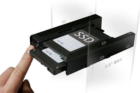 "Image of Icy Dock MB082SP EZ-FIT PRO Dual 2.5"" to 3.5"" Drive Bay Adapter"