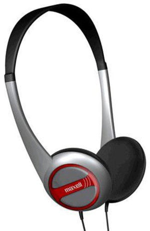 Maxell Lightweight Stereo Headphones - Stereo - Silver, Black - Mini-phone