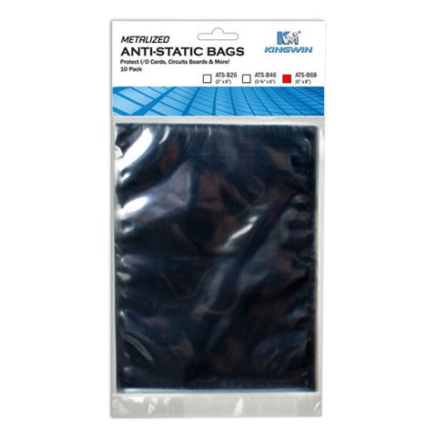 "Kingwin ATS-B68 6"" x 8"" Anti-Static Bag (10-Pack)"