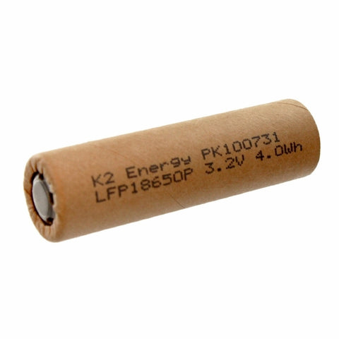 Image of K2 Energy 18650 3.2V 1250mAh LiFePO4 Rechargeable Battery