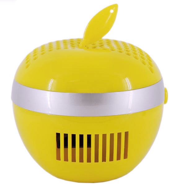 PC Mate AIR100 Apple-Shaped USB Air Purifier (Yellow)