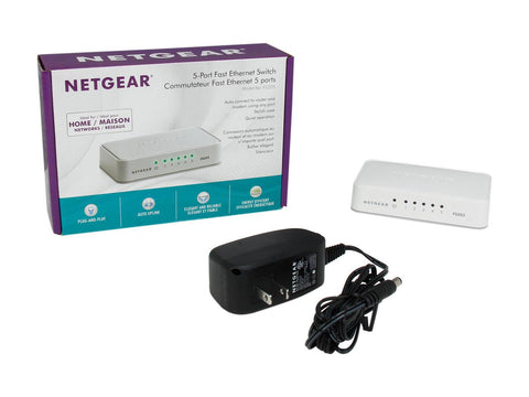 Image of NETGEAR ProSAFE 5-Port Fast Ethernet Switch (FS205) - Essentials Edition