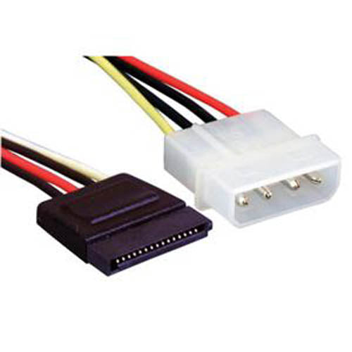C2G 6-Inch 4-Pin Molex to SATA Power