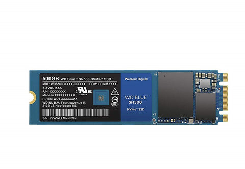 Image of Western Digital WD Blue SN500 NVMe M2 2280 500GB PCI-Express 3.0 x2 3D NAND Internal Solid State Drive (SSD)