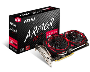 MSI Radeon DirectX 12 RX 570 ARMOR MK2 8G OC 8GB 256-Bit GDDR5 PCI Express x16 Video Card