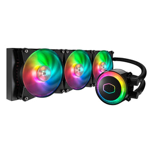 Cooler Master MasterLiquid ML360R Addressable RGB AIO CPU Liquid Cooler 36 Independently-Controlled LEDS, Robust Sleeved FEP Tubing