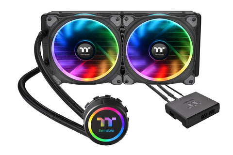 Image of Thermaltake CL-W167-PL14SW-A Floe Riing Cooling Fan/Water Block