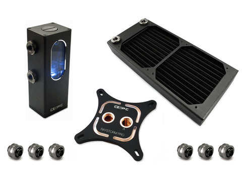 Image of XSPC 5060175587428 RayStorm Pro Ion AX240 WaterCooling Kit