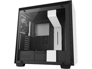 NZXT H700 - ATX Mid-Tower PC Gaming Case - Tempered Glass Panel - Enhanced Cable Management System - Water-Cooling Ready - WhiteBlack
