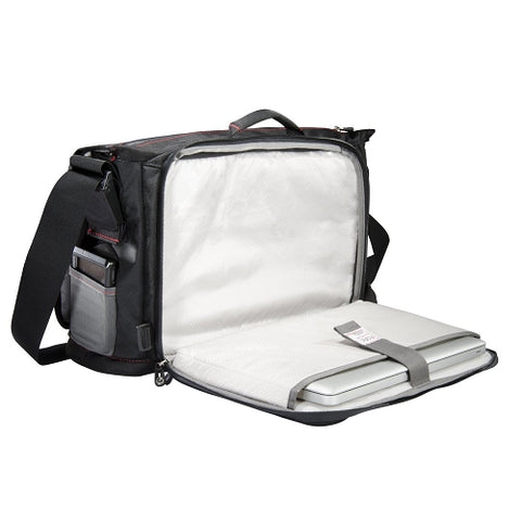 Image of ECBC Trident Messenger Bag wAdjustable Shoulder Strap (Black) - Fits Up To 14in Notebooks