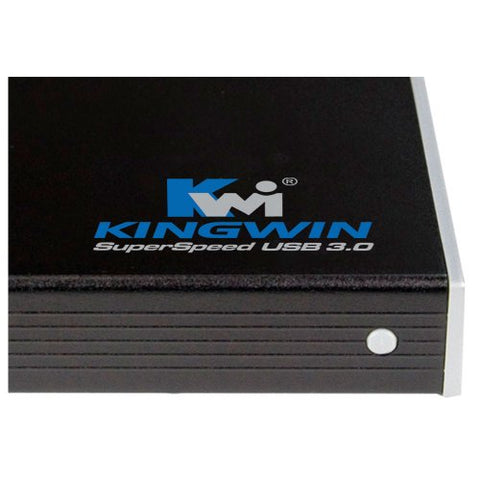 "Kingwin KH-201U3-BK 2.5"" HDD USB 3.0 Aluminum Enclosure"
