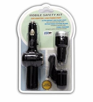 FSP Mobile Safety Kit with Flashlight, USB Charger and More