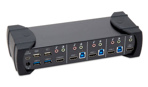 Syba 4-Port HDMI KVM Switch and 2-Port USB 3.0 Hub