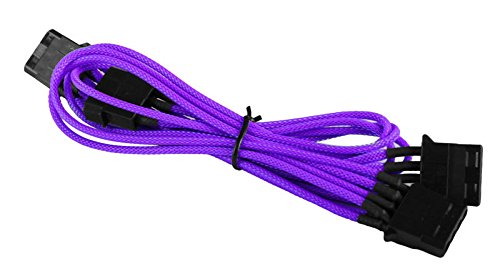 BattleBorn Purple Braided Molex to 3 x Molex Cable
