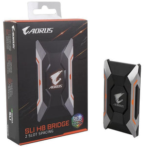 GIGABYTE GC-A2WAYSLIL RGB Gigabyte AORUS SLI Bridge RGB (2 Slot Spacing) Graphic Cards