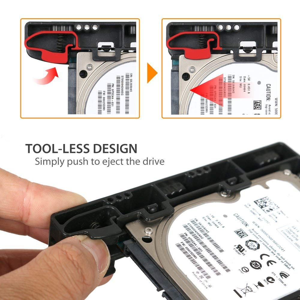 ICY DOCK EZ-Fit Lite MB290SP-1B (with SATA Cable) Dual 2.5 HDD & SSD Light Weight Mounting Bracket for Internal 3.5 Drive Bay