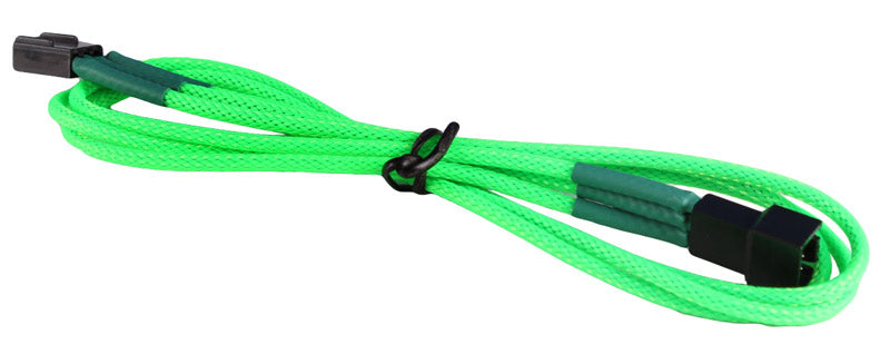 BattleBorn 3-Pin Fan Power Extension Sleeved Cable - Green