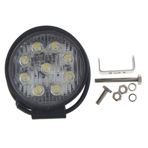 "Image of SwitchCarParts 30 Degree Spot Beam 4"" 9 LED 27W Round LED Light Offroad Light"