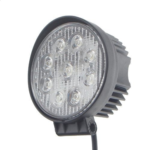 "SwitchCarParts 30 Degree Spot Beam 4"" 9 LED 27W Round LED Light Offroad Light"