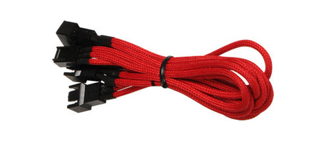 Image of BattleBorn 3 x 3-Pin Fan Splitter Cable CB-3MF33-Red