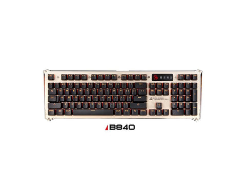 A4Tech LED B840 Gaming Keyboard with LK Light Strike Optic Blue Switch, Light Strike 0.2ms,
