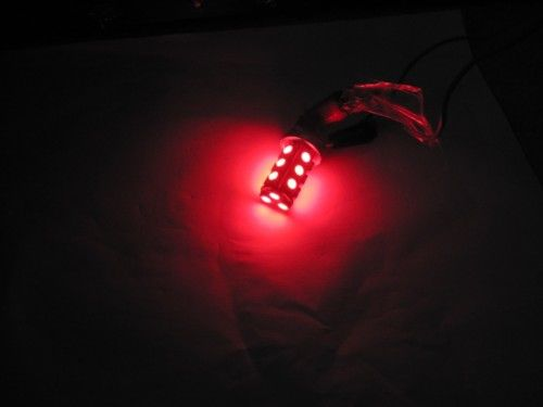 NPR 3156 LED Bulb 18 SMD 5050 Red LED Tower - Wedge Base for Tail Lights & Turn Signals