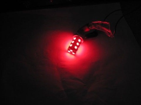Image of NPR 3156 LED Bulb 18 SMD 5050 Red LED Tower - Wedge Base for Tail Lights & Turn Signals
