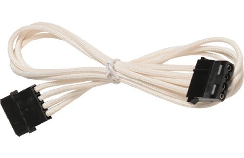 BattleBorn Molex Single Cable - White Braided Sleeved