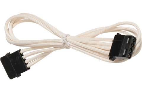 Image of BattleBorn Molex Single Cable - White Braided Sleeved