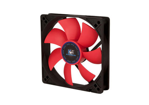 Image of Kingwin CF-012LBR Black and Red 120mm Long Life Bearing Case Fan