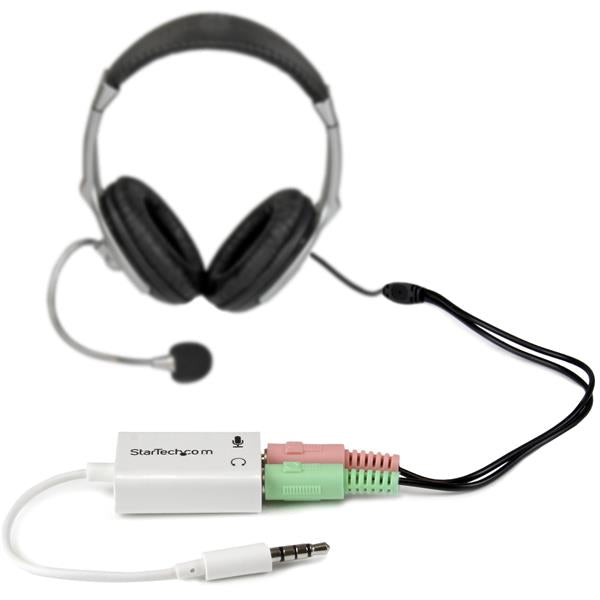 StarTech.com MUYHSMFFADW 3.5mm Dual 3-Position 3.5mm Headset Adapter
