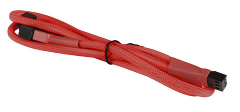 "BattleBorn Red Braided 3-Pin Fan ""Y"" Splitter Cable"