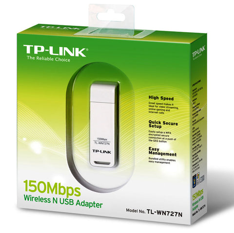 TP-LINK TL-WN727N 150Mbps USB Wireless N Wireless Adapter (White)