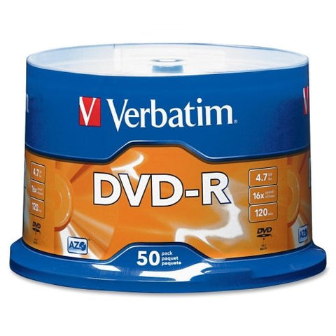 Verbatim 95101 DVD-R 4.7GB 16X 50 Pack