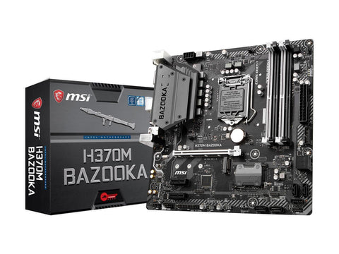 Image of MSI H370M BAZOOKA LGA 1151 (300 Series) Intel H370 HDMI SATA 6Gb/s USB 3.1 Micro ATX Intel Motherboard