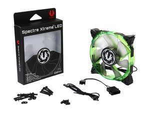 BitFenix Spectre Xtreme BFF-SXTR-12025G-RP 120mm Green LED Case Fan