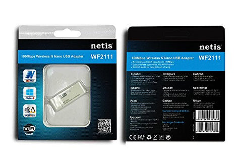 Netis WF-2111 Wireless-N 150Mbps USB Wi-Fi Adapter