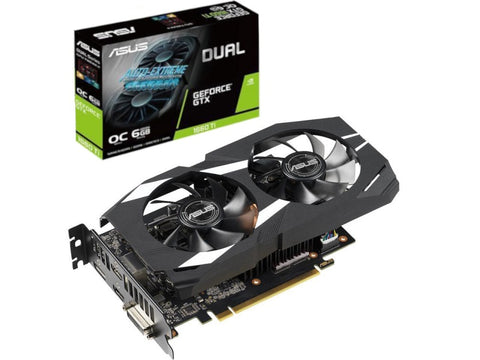 ASUS Dual GeForce GTX 1660 Ti DUAL-GTX1660TI-O6G 6GB 192-Bit GDDR6 PCI Express 30 HDCP Ready Video Card
