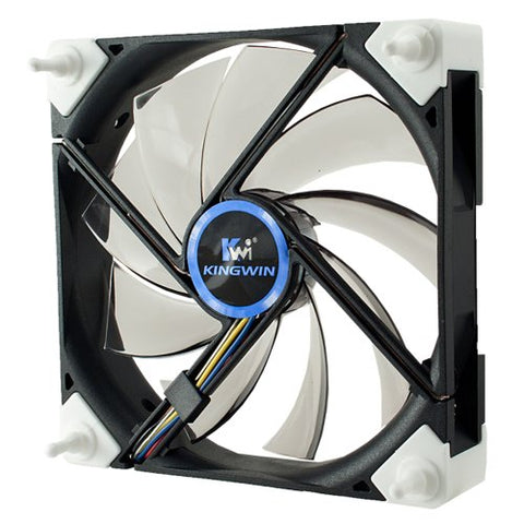 Kingwin DB-125 120mm Black Case fan with White LED