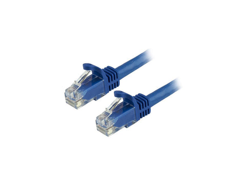 Image of StarTech 6in Blue Snagless CAT6 Patch Cable N6PATCH6INBL
